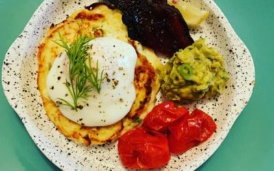 Parmesan and Spring Onion Ricotta Hotcakes