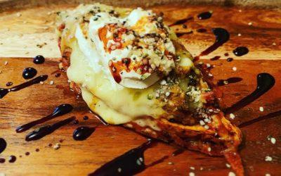 Cheesy Quinoa & Kale Stuffed Sweet Potato