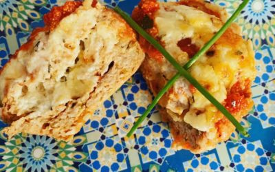 Cheesy chicken mini meat loaves