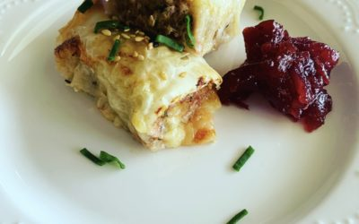 Turkey, Cranberry & Brie Sausage Rolls