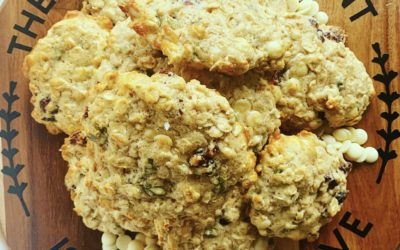 White Chocolate, Cranberry & Pepita Oat Cookies